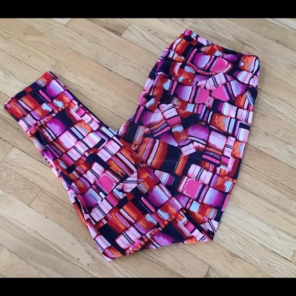 LuLaRoe Pants - LuLaRoe TC stain glass leggings